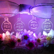 Triple Monogram Bridesmaid Christmas Ornaments Mini Miniature Personaliz... - $12.00