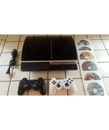 Sony PlayStation 3 -Console (Needs Repair)-2 Controllers-6 Games - $53.99