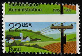 2144 Misperforation ERROR - 22¢ Electrification stamp - Mint NH - Stuart... - $19.95