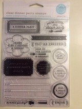 Martha Stewart Clear Transparent Stamps Dinner Party - $18.55