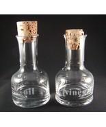 Vintage Set of Glass Oil and Vinegar Cruets Ser... - $14.99