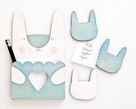 Bunny To Do List Blue Magnets, Fridge magnets, Easter, baby shower gift - $25.00