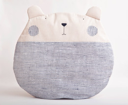 Gray Pillow Bear, Decorative Pillow, mom gift, ... - $28.50