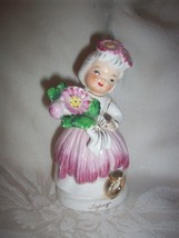 Rare Midcentury Vintage Topaz Flower Girl Lady ... - $7.95
