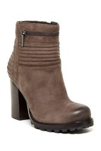 WOMENS SAM EDELMAN Fowler Moto Zip Nubuck Dark Brown Ankle Booties 9.5 M - $86.78