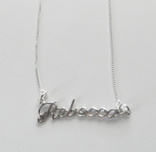 Sterling Silver Name Necklace - Name Plate - REBECCA - $54.00