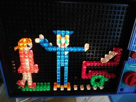 Vintage 1970 LITE BRITE Hasbro Toy Light Bright w/ Some Pegs (TESTED WOR... - $39.59