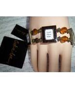 COOKIE LEE STRETCH 5 PHOTO FRAME BRACELET w GOLD BEADS / NEW WITH TAGS - $10.00