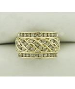 1.20 Carat Diamond Cocktail Ring 10K Yellow Gold Ring - $699.95