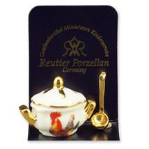 Dollhouse Miniature Rooster Soup Pot Tureen Casserole 1923/0 Reutter Min... - $8.00