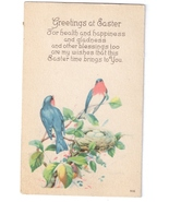 Easter Greetings Birds Robins Nest and Eggs Vintage Karle Arts & Crafts ... - $4.99