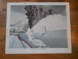 Old Vintage 1944 Picture Print California Bucking Snow in the High Sierr... - $9.99