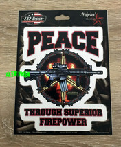 Peace Through Superior Firepower Sticker Decal Army Sniper Soldier Military - $4.94