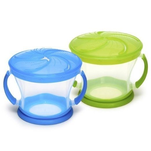 My First Self Feed snack bowl Griptight Blue