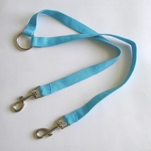 Two-Way Dog Leash Coupler w/ 12-inch Nylon Leads Dog Walking Accessory Blue - $7.42