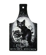 Alchemy Gothic Witches Kitchen Black Cat Rose Ceramic Cutting Board Triv... - $24.00