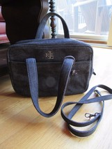 5T/RALPH LAUREN DENIM SMALL TOTE/HANDBAG/MAKEUP/CROSS BODY/ADORABLE! - $21.73