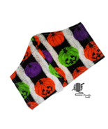 Kids Face Mask Halloween Pumpkins Cotton 2 Layer Fitted Facemask Handmad... - $12.95