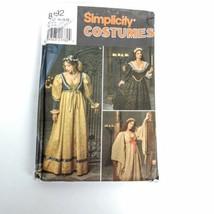 Simplicity 8192 Plus Size 16 18 20 Renaissance Dress Bodice Option Patte... - $18.88