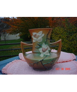 Roseville Magnolia Vase 93-9 Large Dual Handle 1940's c Mint Condition - $175.00
