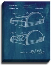 Airplane Hangar Door Patent Print Midnight Blue on Canvas - $39.95+