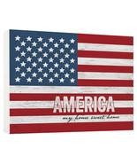 Darice P. Graham Dunn American Flag Block Sign: Pine, 7.25 x 5.5 inches w - $18.99