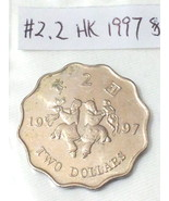 Hong Kong Coins 1997  Two Dollars 和合二仙 (Ho Ho Brothers commemorative) - $10.99