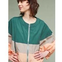 Elevenses Women's Anthropologie Colorblock Full Zip Windbreaker Jacket S... - $31.68