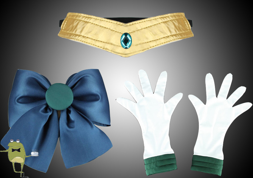 Michiru Kaioh Sailor Neptune Cosplay Costume + Wig, Sailor Neptune Cosplay Outfi