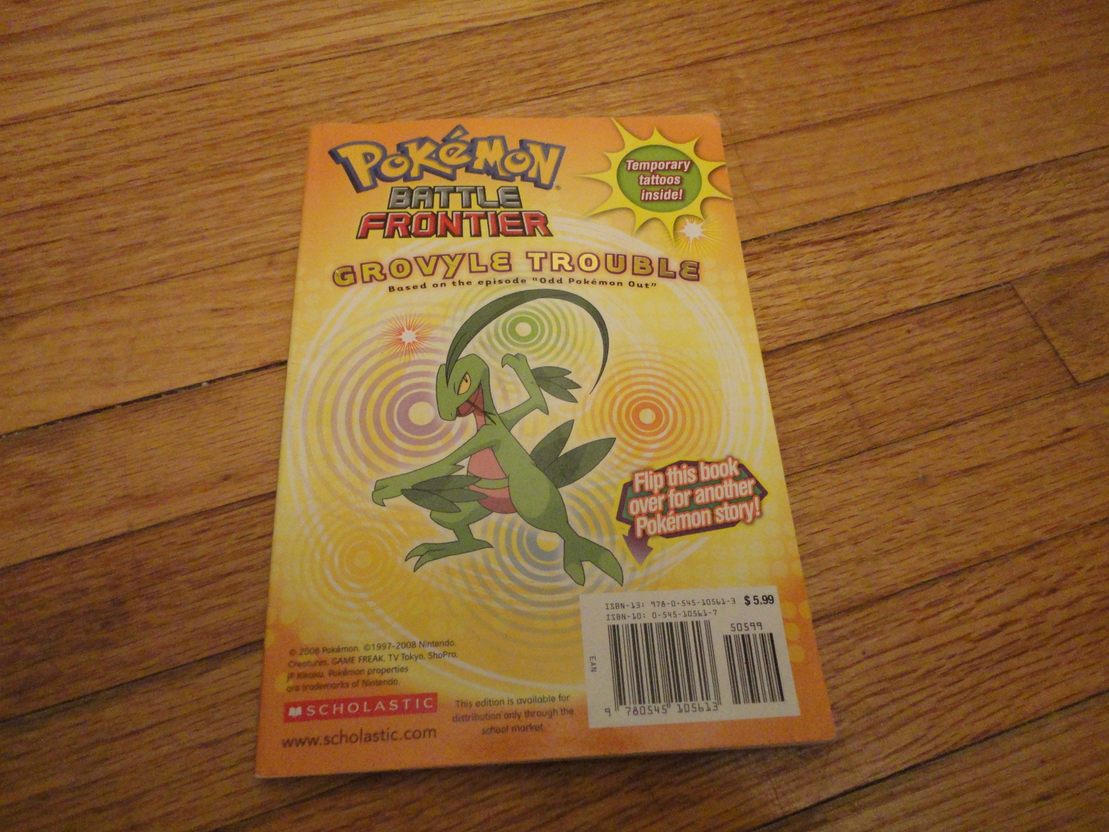 BOOK Tracey West 'Pokemon Battle Frontier: Grovyle Trouble/Deoxys In Danger' PB