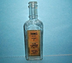 VINTAGE THAMES BRAND EXTRACT OF PURE LEMON~THAMES COFFEE CO. SYRACUSE, N... - $24.74