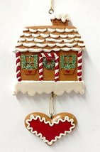 Gingerbread House with Heart Ornament - $15.00