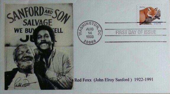 August 14, 1998 First Day of Issue, Sanford & Son Salvage, Red Foxx, Scott 3036