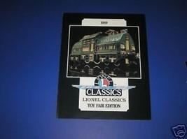 1989 LIONEL CLASSICS TOY FAIR - $4.00