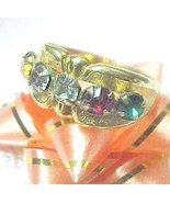 Mother's Ring Family Ring 5 colored gemstones, ... - $7.00