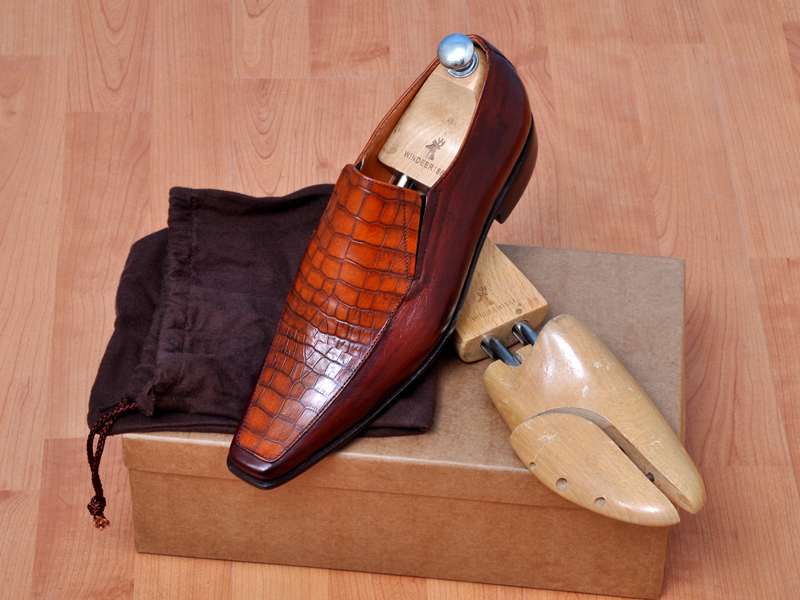 Handmade men's fashion moccasin two tone leather shoes, mens dress leather shoes