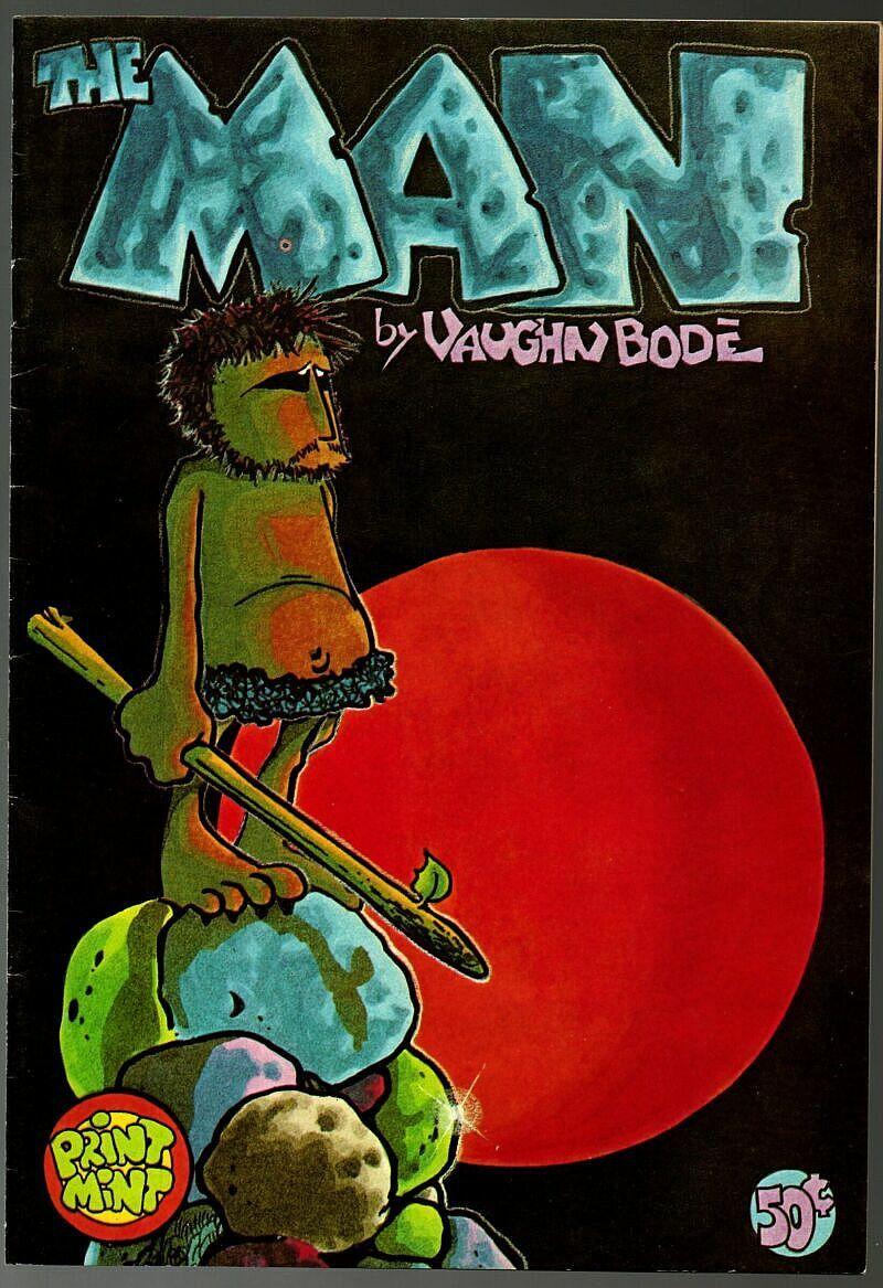 M- The Man, 2nd print, Print Mint 1972,  Vaughn Bode, underground comix,