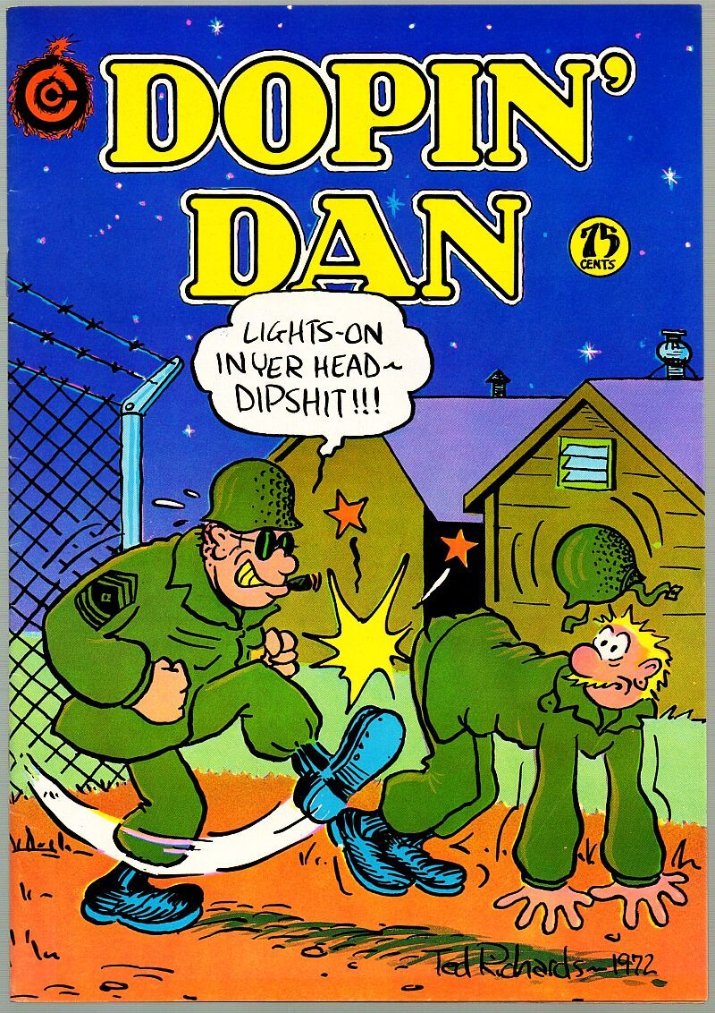 Dopin' Dan 1, SIGNED 3rd print, Ted Richards, 1975, Undreground Comix,