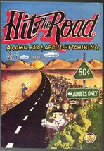 Hit The Road, Print Mint 1971, underground comix, about hitchiking - $9.25