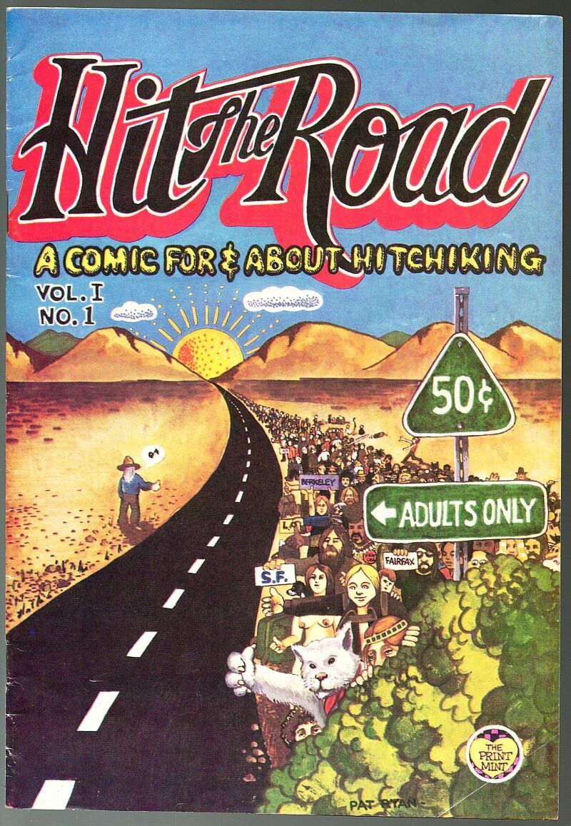 Hit The Road, Print Mint 1971, underground comix, about hitchiking
