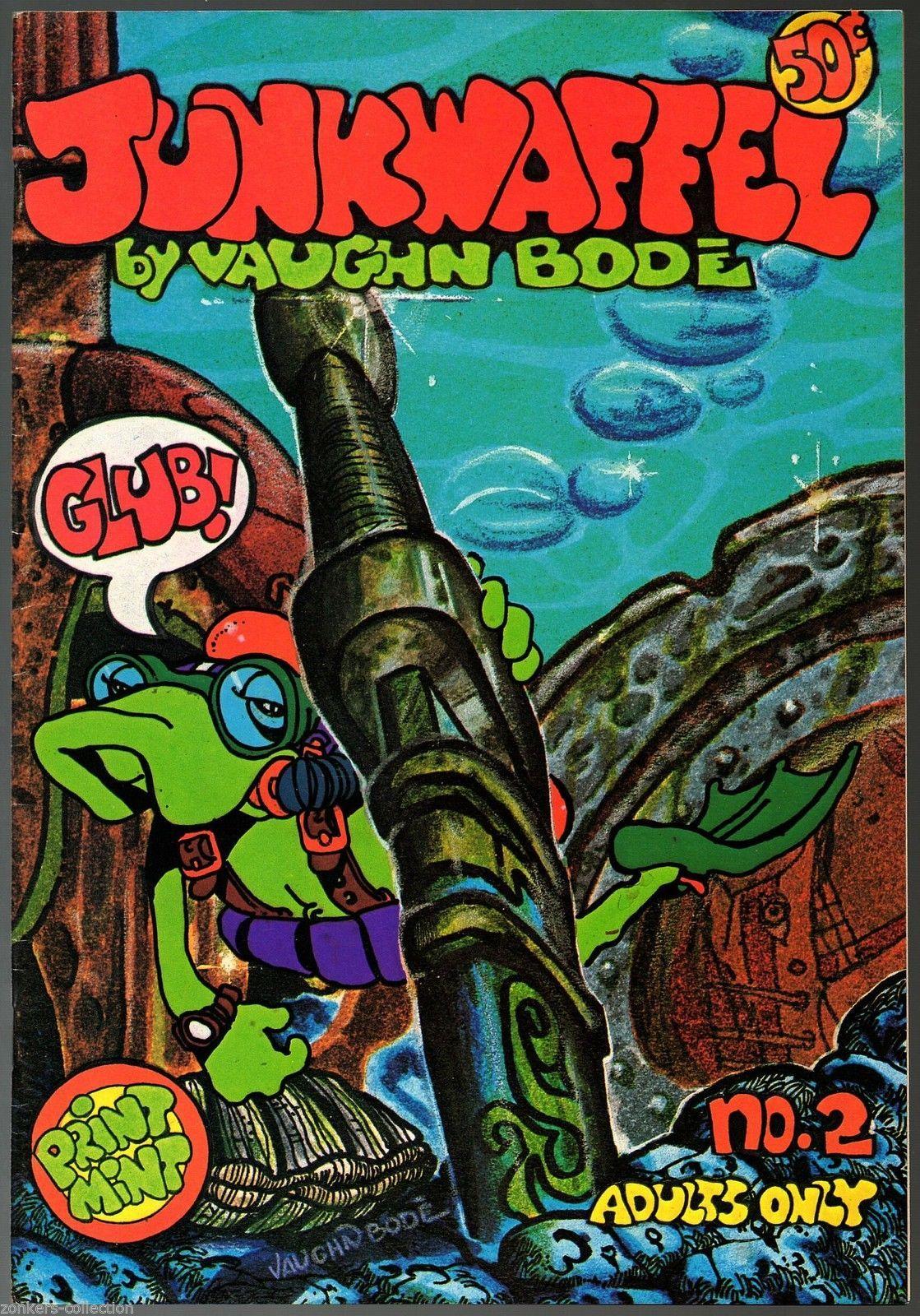 Junkwaffel 2,- 1st print, Print Mint 1972 Vaughn Bode underground comix,