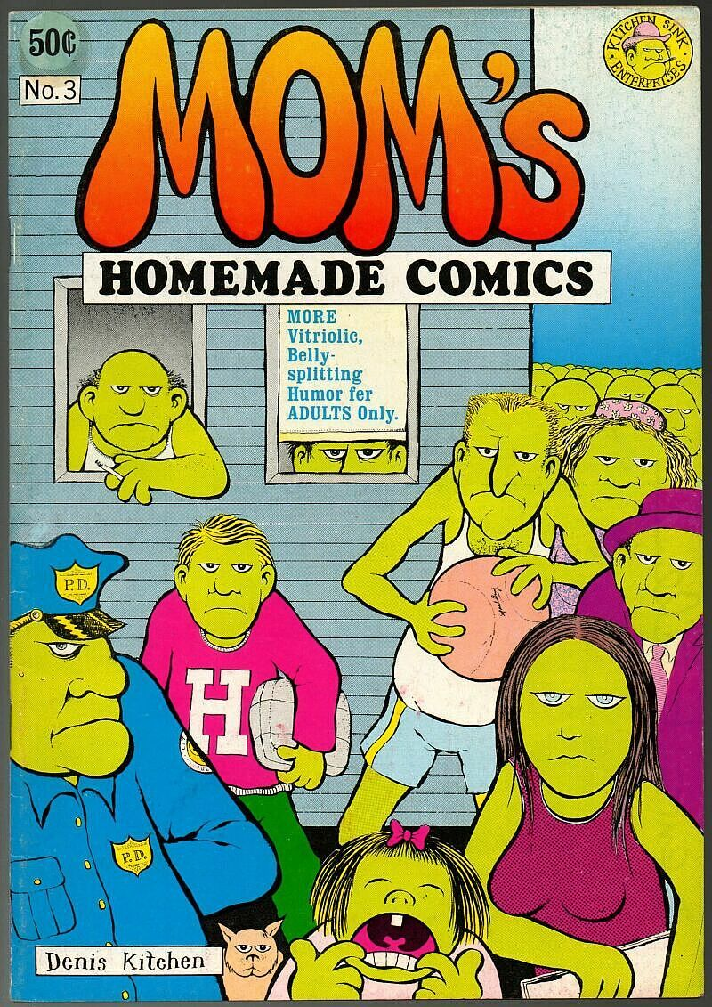 Mom's Homemade 3, SIGNED, Denis Kitchen 1971, 3rd print, underground comix