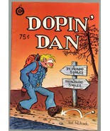 Dopin' Dan 3, SIGNED, Ted Richards, 2nd print 1973, Undreground Comix, - $16.25