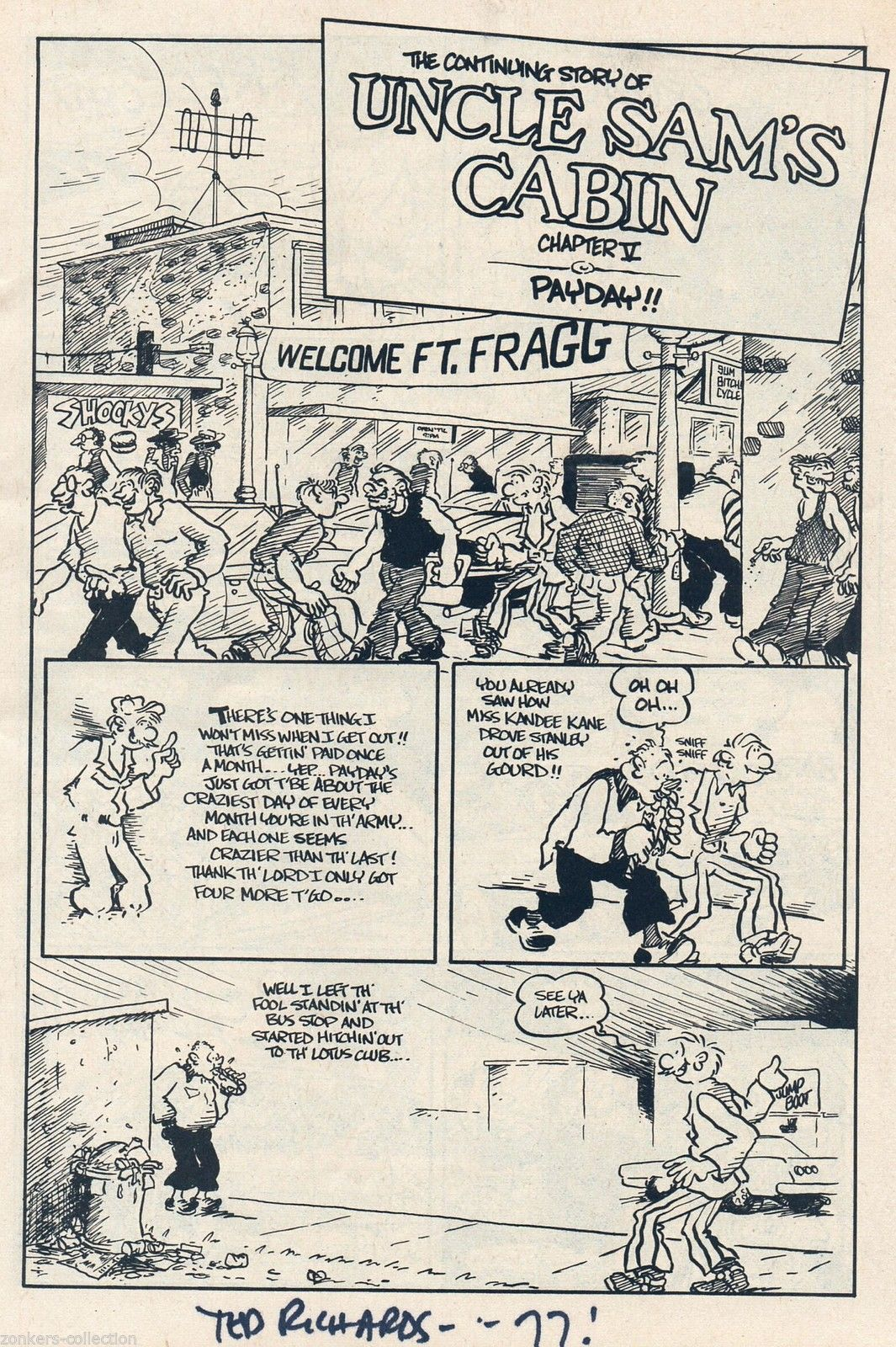 Dopin' Dan 3, SIGNED, Ted Richards, 2nd print 1973, Undreground Comix,