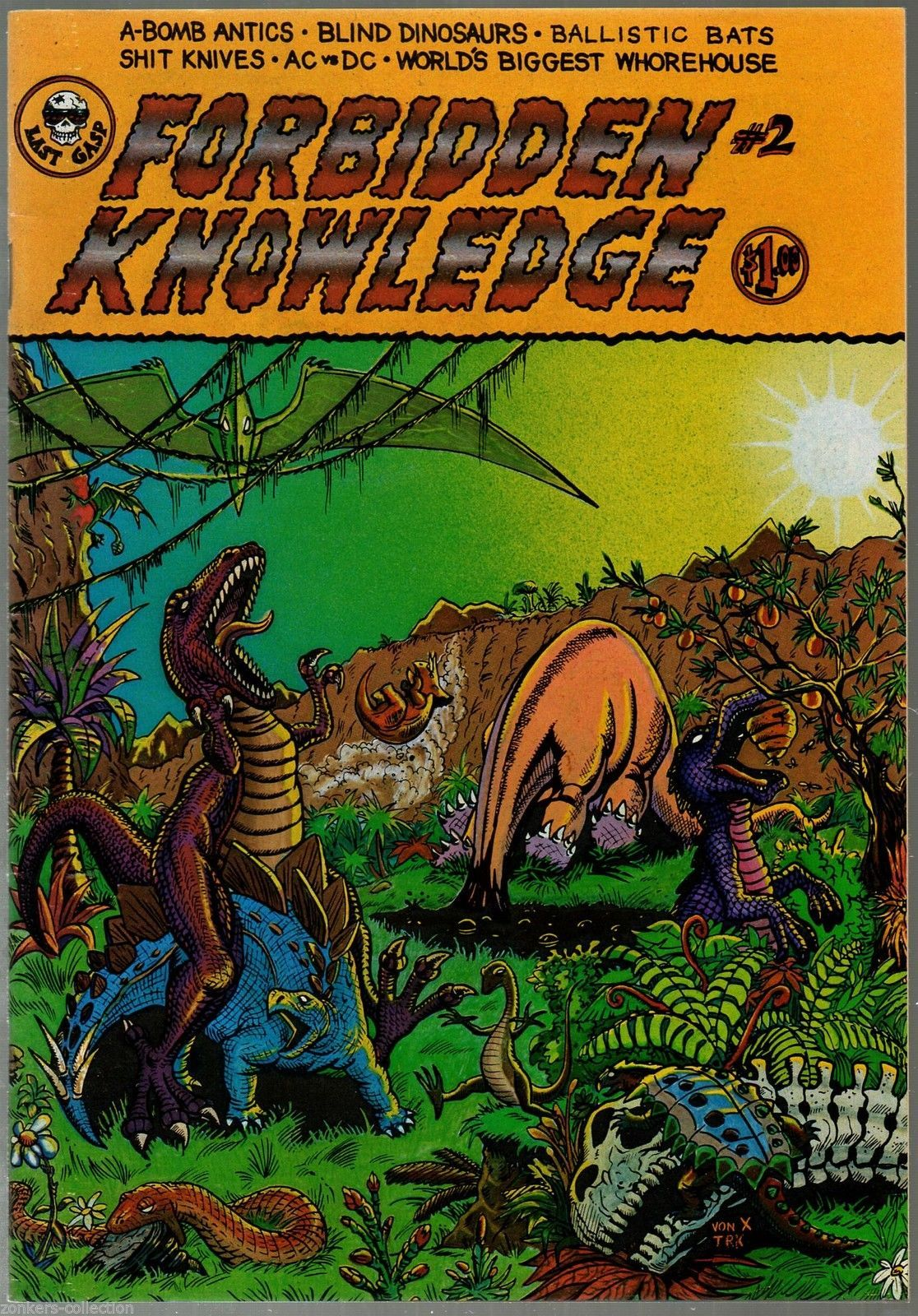 Forbidden Knowledge 1 & 2, Last Gasp 1975, 78 Undreground Comix George DiCaprio