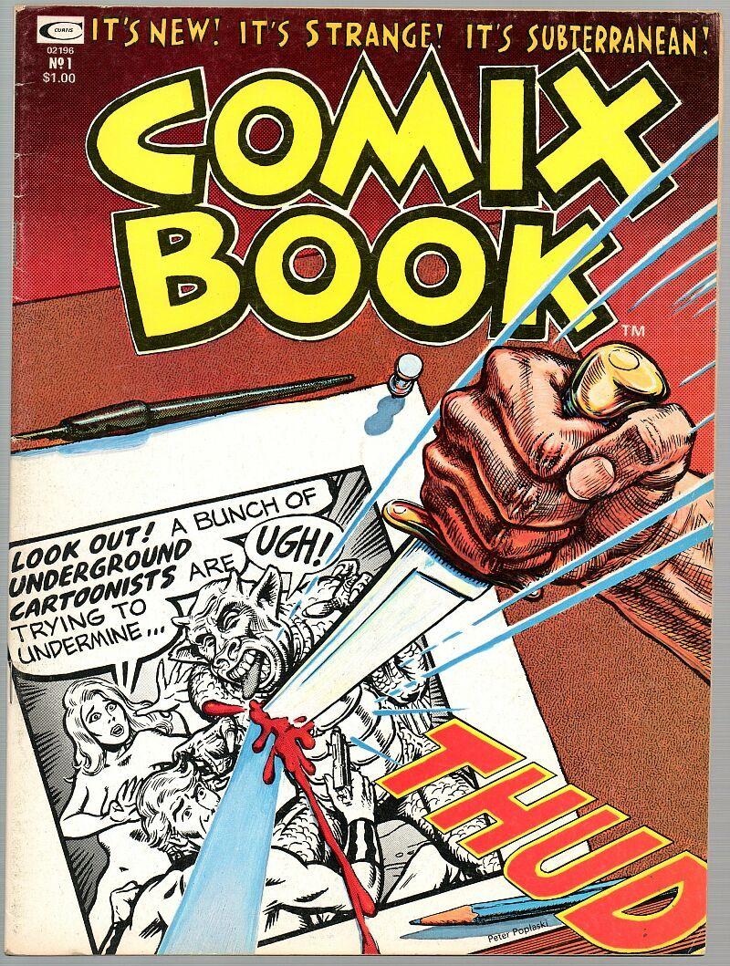 Comix Book #1, 1974,  Kitchen Sink / Marvel co-production