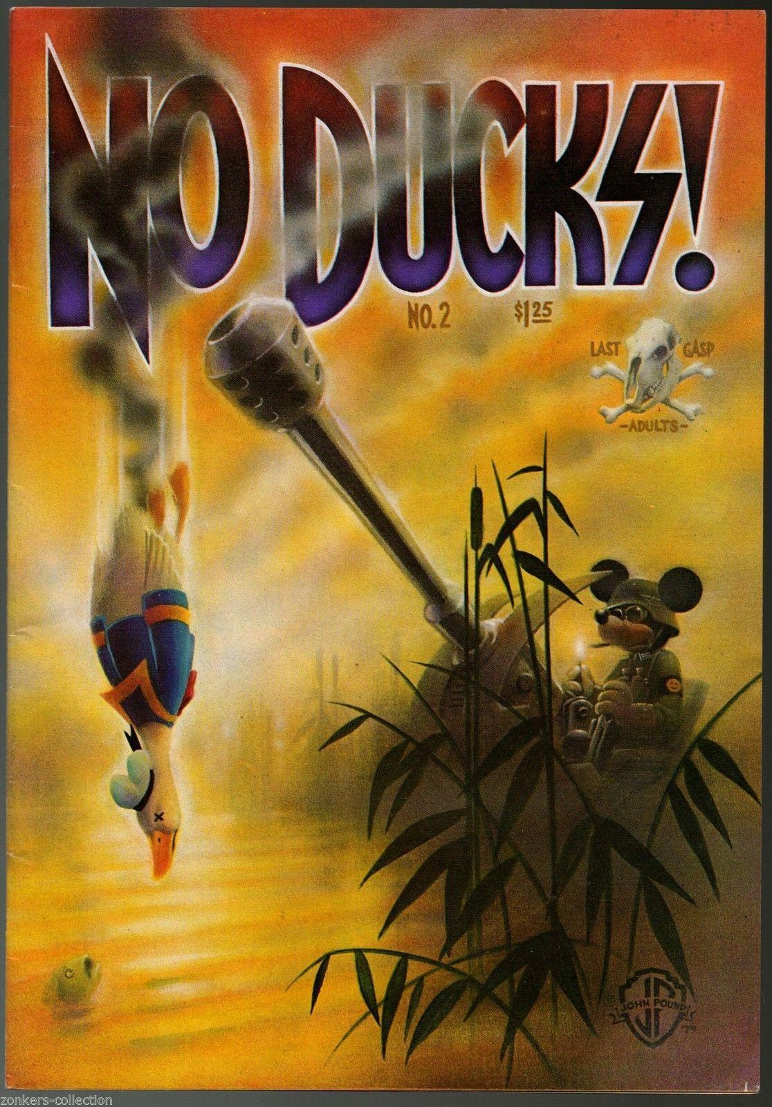 No Ducks #1 & 2, Last Gasp 1977,79, underground comix