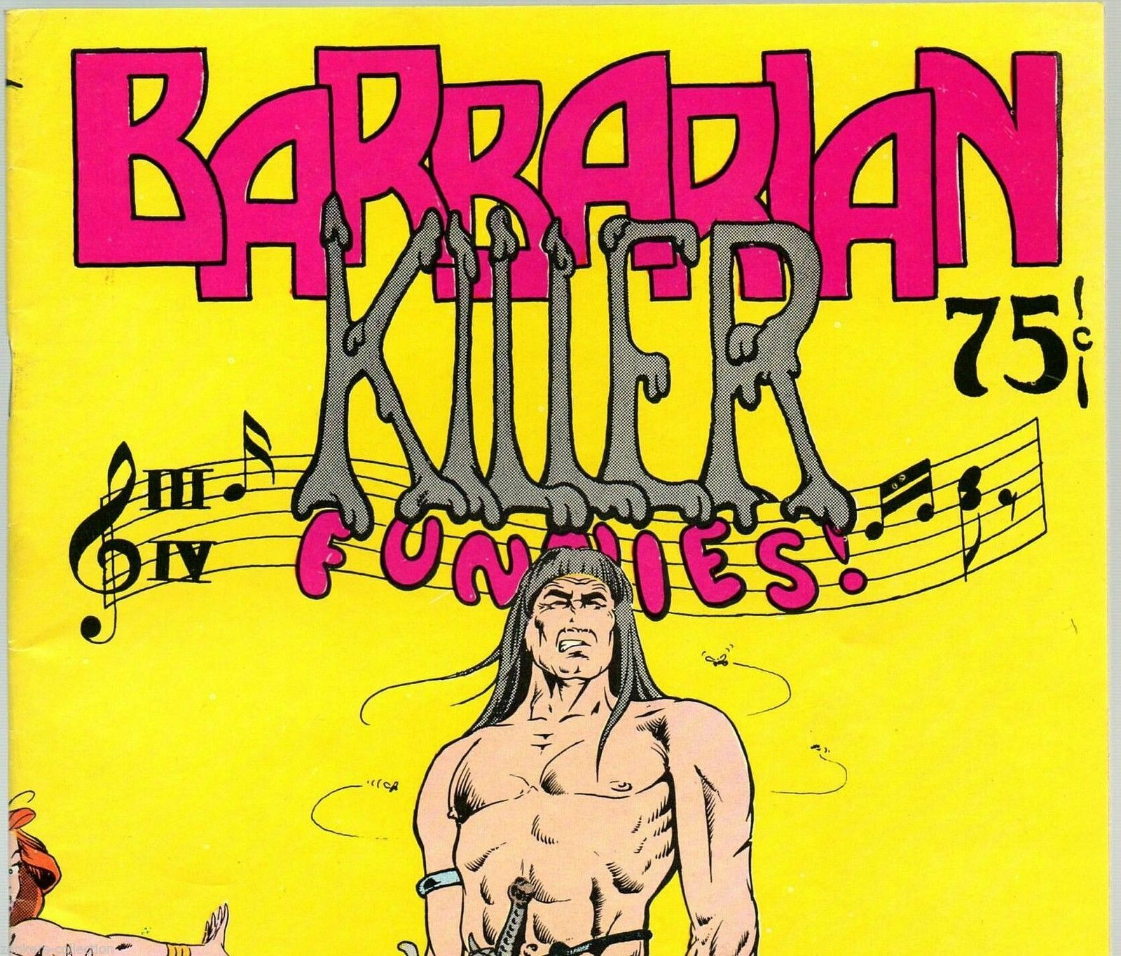 Barbarian Killer 1974  Bud Plant, underground comix, Tom Bird