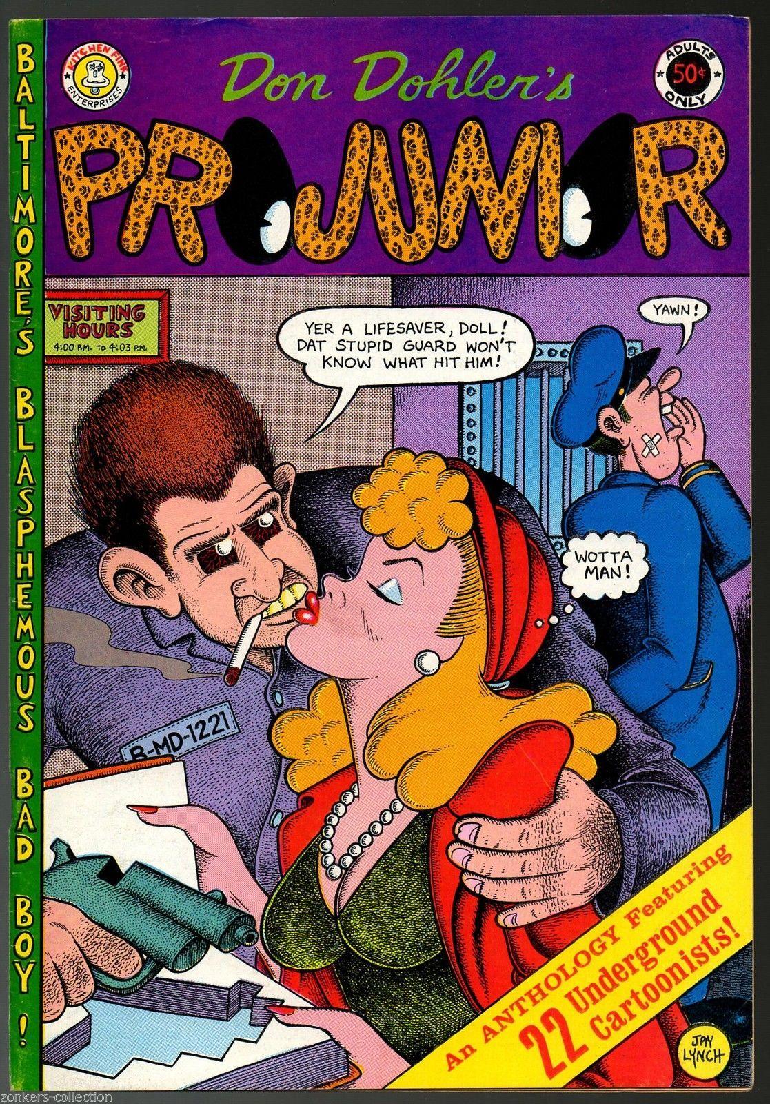 Projunior, 4th print, Kitchen Sink 1973, underground comix,
