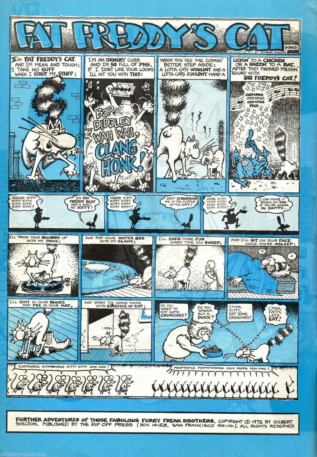 Freak Brothers 2 Rip Off Press 3rd print 1972 Gilbert Shelton